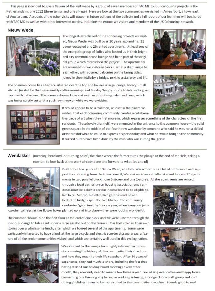 Dutch cohousing visit