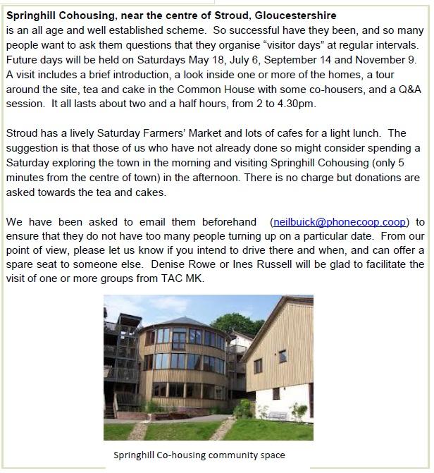 Springhill visit